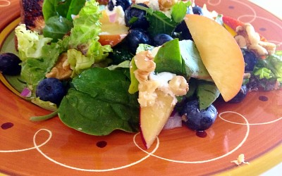 Blueberry Nectarine Salad with Baby Greens
