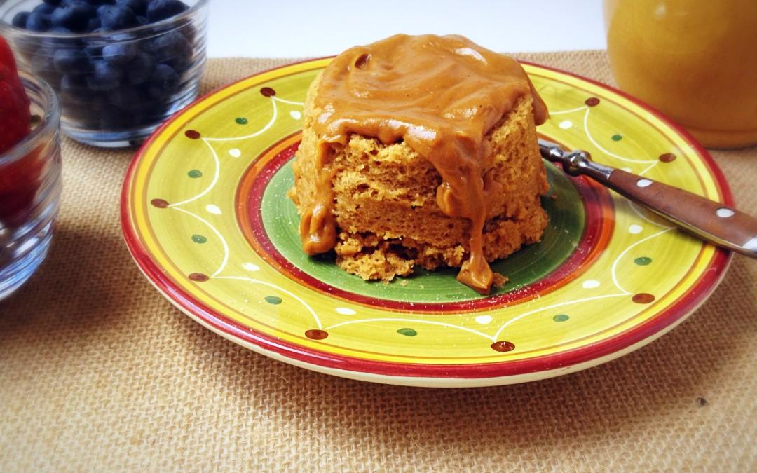 Peanut Butter Vanilla Mug Cake